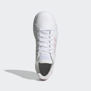 Kids 4-8 Years Tennis White Grand Court Shoes