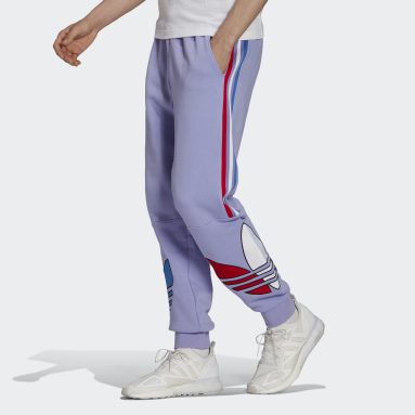 Men Originals Purple Adicolor Sweat Pants