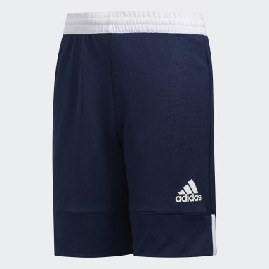 Kids Basketball Blue 3G Speed Reversible Shorts