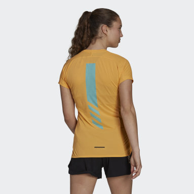 Camiseta Terrex Parley Agravic Trail Running All-Around Naranja Mujer TERREX