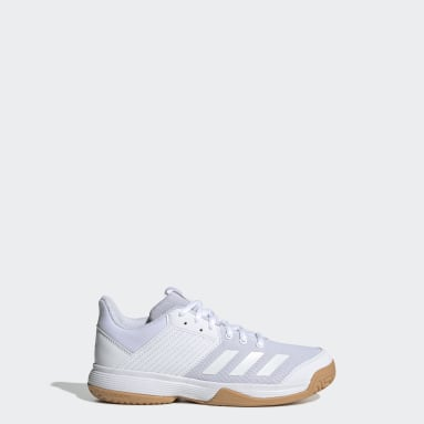 Kids Netball White Ligra 6 Shoes
