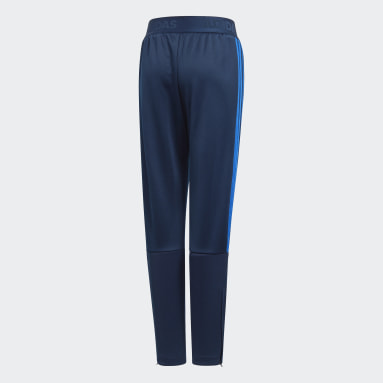 Boys Gym & Training Blue Tiro Tracksuit Bottoms