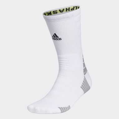Training White Alphaskin Maximum Cushioned Crew Socks