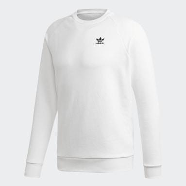 Sweatshirt Trefoil LOUNGEWEAR Essentials Branco Homem Originals