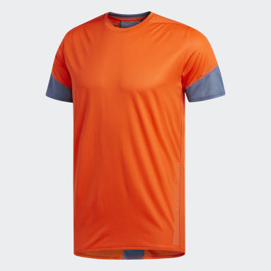 Men Running Orange 25/7 Rise Up N Run Parley T-Shirt