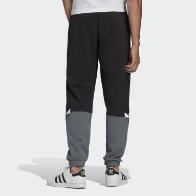 Sweat pants adicolor Sliced Trefoil Nero Uomo Originals