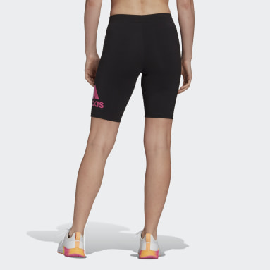 Women Sport Inspired Black adidas Essentials Gradient Logo Bike Shorts