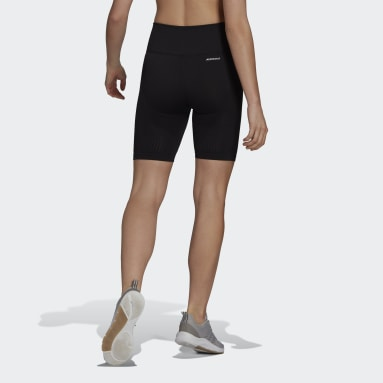 Dames Fitness En Training Zwart adidas Designed 2 Move Seamless AEROREADY Korte Legging