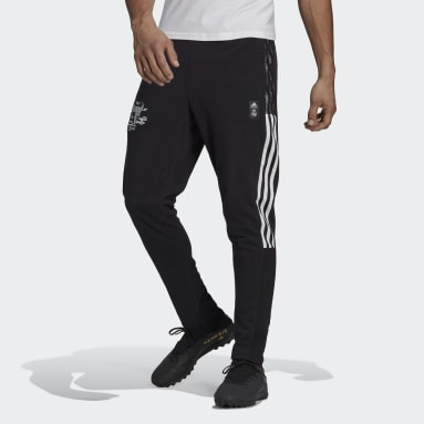 Men Football Black Real Madrid CNY Sweat Tracksuit Bottoms
