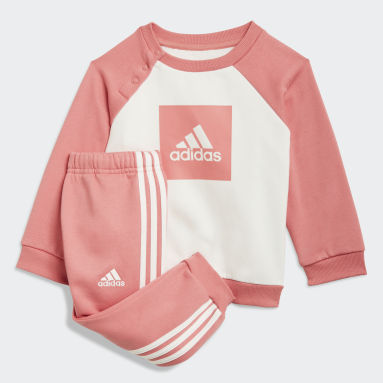 Kids Gym & Training Pink 3-Stripes Fleece Jogger Set