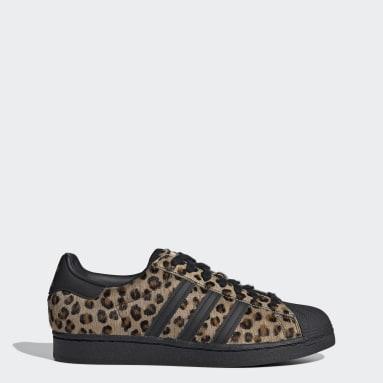Men Originals Brown Superstar Shoes