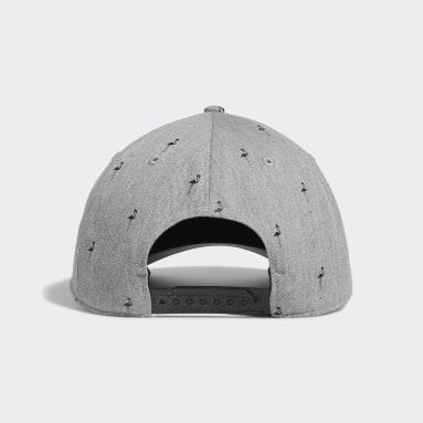 Men Golf Grey Golf Flamingo-Print Hat