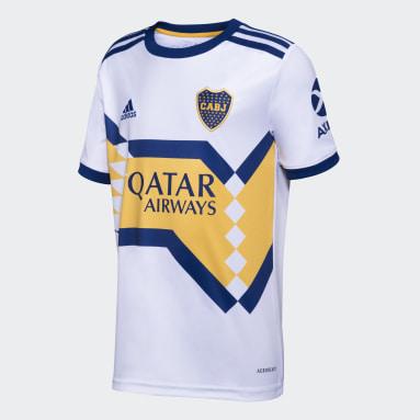 Camisa 2 Boca Juniors 20/21 Branco Meninos Futebol