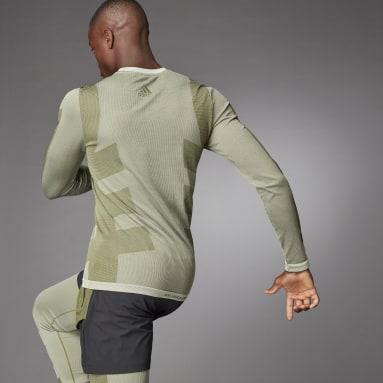 Men Studio White Studio Techfit Seamless Long-Sleeve Top