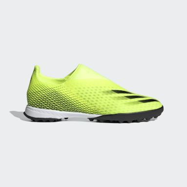 Chaussure X Ghosted.3 Laceless Terrain Turf Jaune Football