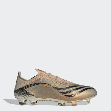 Bota de fútbol X Speedflow Messi.1 césped natural seco Plateado Fútbol