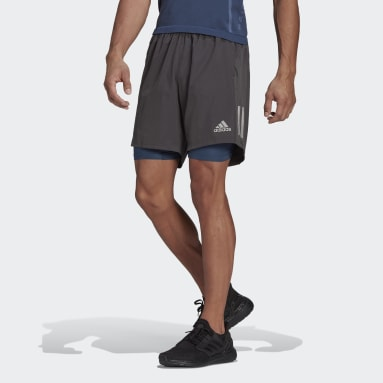 Short Own the Run Two-in-One Gris Hommes Running