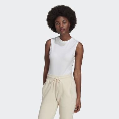 Women Originals White Adicolor Single Jersey Bodysuit