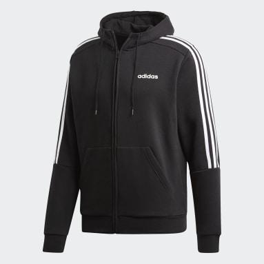 Men Lifestyle Black 3-Stripes Track Jacket