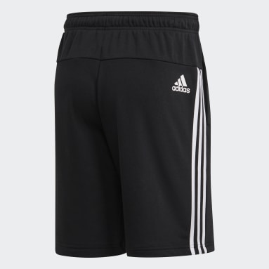 Men Sportswear Black Must Haves 3-Stripes French Terry Shorts