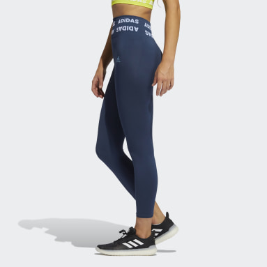 Frauen Running Training Aeroknit High-Rise 7/8-Tight Blau