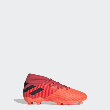 Kids Football Orange Nemeziz 19.3 Firm Ground Boots