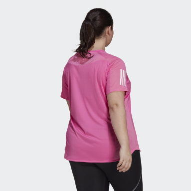 Women Running Pink Own the Run T-Shirt (Plus Size)