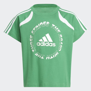 Youth 8-16 Years Gym & Training Green Bold T-Shirt