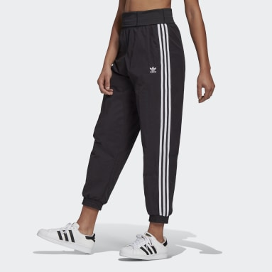 Women Originals Black Adicolor Classics Double-Waistband Fashion Track Pants