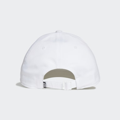 Cappellino Lightweight Metal Badge Baseball Bianco Hockey Su Prato