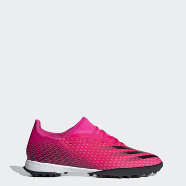 Zapatos de Fútbol X Ghosted.3 Pasto Sintético Rosado Hombre Fútbol