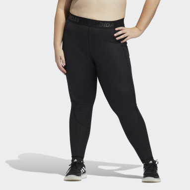 Women Training Black Techfit High-Rise Long Tights (Plus Size)