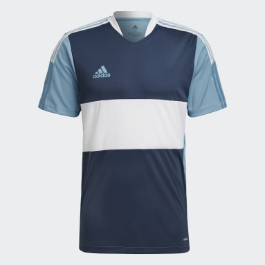 Men Football Blue Tiro 21 Jersey