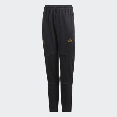 Boys Gym & Training Black Salah Football-Inspired Tapered Pants