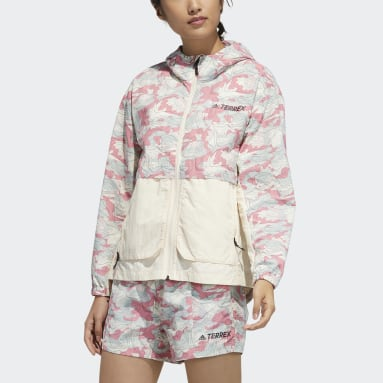 Γυναίκες TERREX Λευκό Festival Allover Print Windbreaker