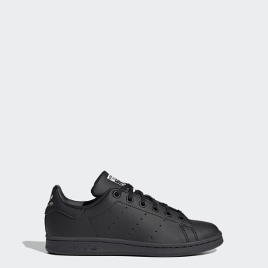 Youth Originals Black Stan Smith Shoes