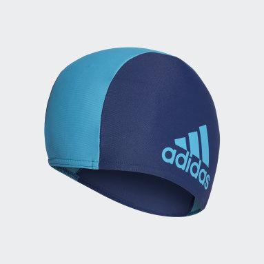 Youth 8-16 Years Swimming Blue Swim Cap