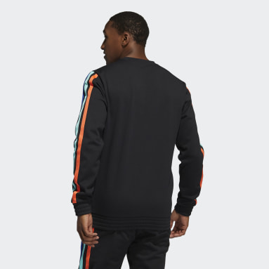 Men Basketball Black Harden Fleece Crew Sweatshirt