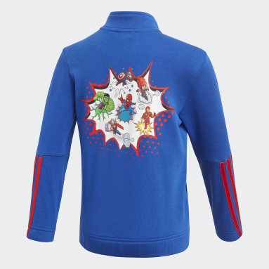 Kids 4-8 Years Gym & Training Blue Superhero Adventures Sweatshirt