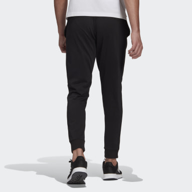 Pants Essentials Single Jersey Tapered Cuff Negro Hombre Essentials