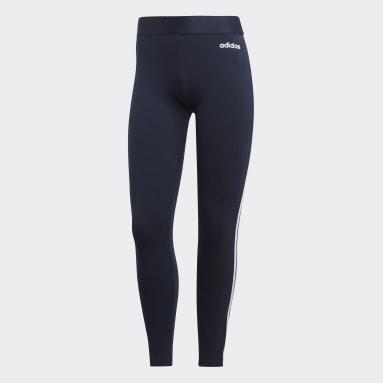 Leggings Essentials 3-Stripes Blu Donna Sportswear