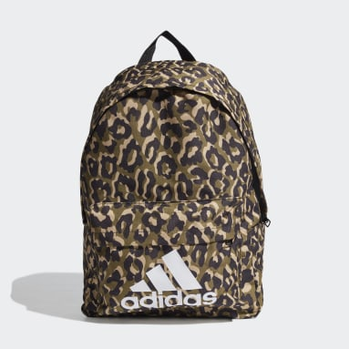 Women Handball Multicolour Badge of Sport Leopard Backpack