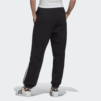 LOUNGEWEAR Adicolor 3D Trefoil Fleece Pants Czerń