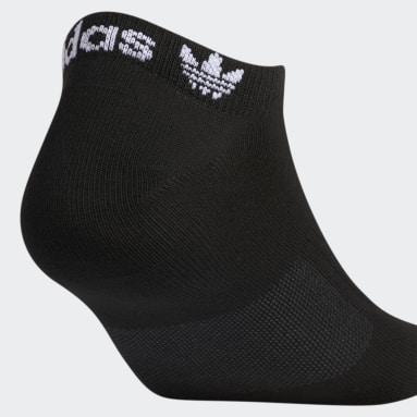 Men's Originals Black Forum No-Show Socks 3 Pairs