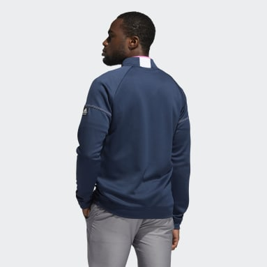 Men Golf Blue Equipment Quarter-Zip Sweatshirt