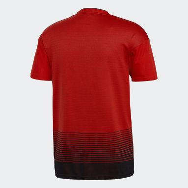 Maillot Manchester United Domicile rouge Hommes Soccer