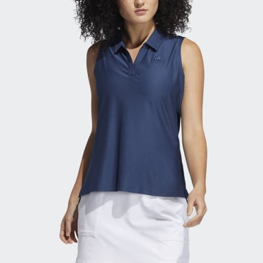 Polo sin mangas Go-To Primegreen Azul Mujer Golf