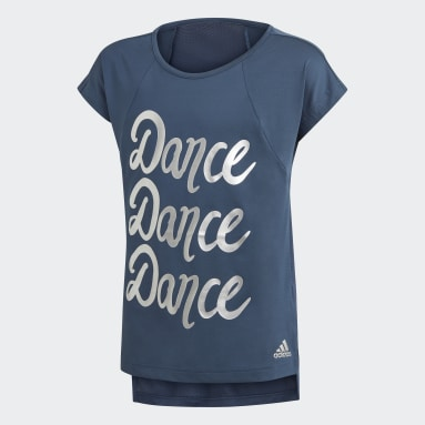 Girls Gym & Training Blue AEROREADY Dance Tee