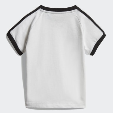 Infant Originals White 3-Stripes Tee