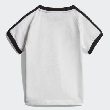 Chlapci Originals biela Tričko 3-Stripes